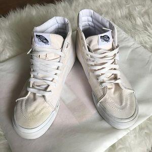 VANS Men's SK8 HiTops Ivory Laced Up Skater Shoes